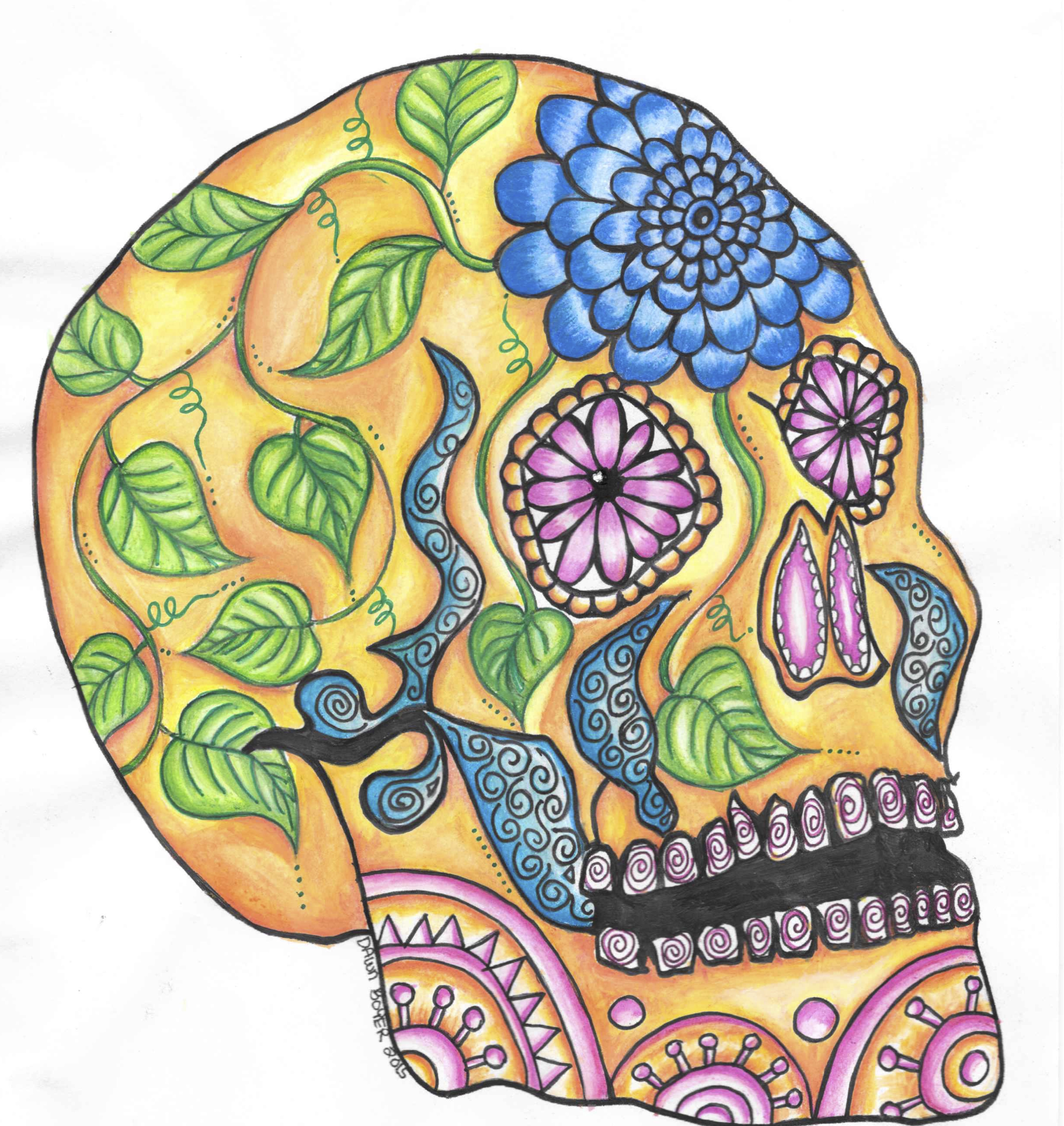 Big Skull Coloring Pages